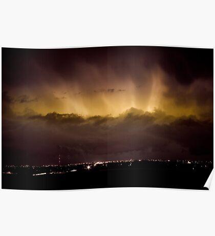 Lightning Cloud Burst Boulder County Colorado IM29 Poster