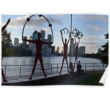 Riverside scluptures in Brisbane Poster