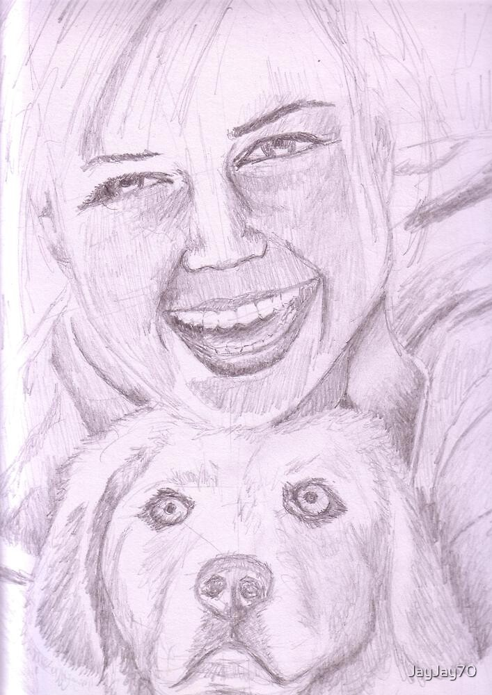 Girl and Dog by JayJay70