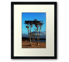 Sunset At Lake Poorrarecup Framed Print