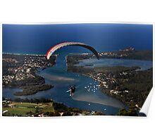 Paragliding to Harrington NSW Australia !!! Poster