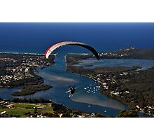 Paragliding to Harrington NSW Australia !!! Photographic Print