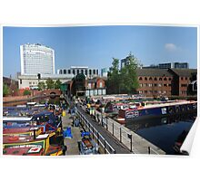 Gas Street Basin, Birmingham. Poster