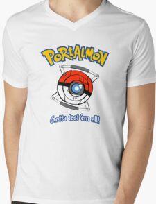 Portalmon Mens V-Neck T-Shirt