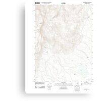 USGS Topo Map Oregon Warner Peak 20110816 TM Canvas Print