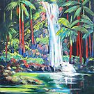 Curtis Falls with Red Palms ,Tamborine Mountain  by Virginia McGowan