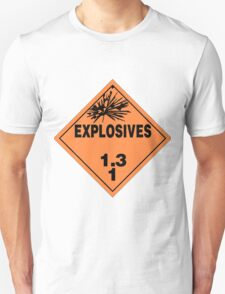 HAZMAT HAZARD EXPLOSIVES - STICKER T-Shirt