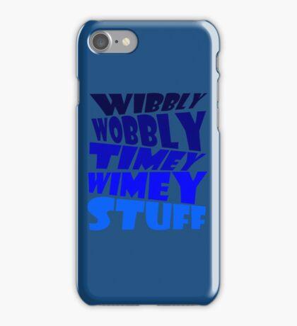 Wibbly wobbly timey wimey stuff iPhone Case/Skin