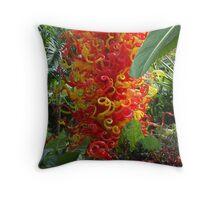 Blown Glass - Organge & Yellow Throw Pillow