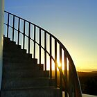 Steps of Sugarloaf Lighthouse, NSW, Australia by Samantha  Goode