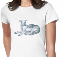 Dog.Pencil drawing. Womens Fitted T-Shirt