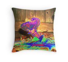 Neutron Shroom - in my garden in Saint Augustine, Florida Throw Pillow
