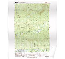 USGS Topo Map Oregon Mill City North 280738 1985 24000 Poster