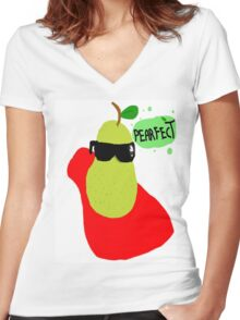 #Pearfect Women's Fitted V-Neck T-Shirt