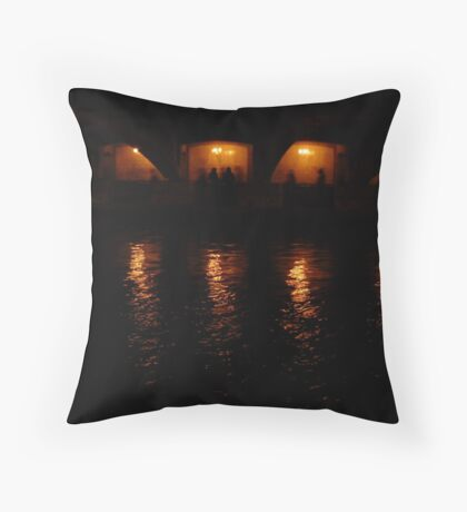 Ghosts in the Waterway Throw Pillow