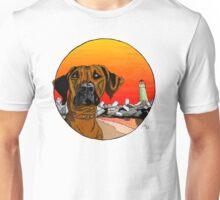 Dog in Santa Cruz Unisex T-Shirt