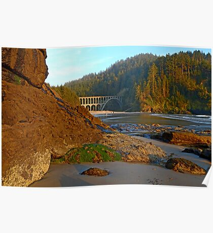 Heceta Head At Golden Hour Poster