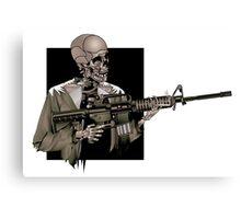 AR-15 Skeleton, Illustrator Canvas Print