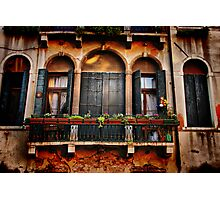 Venezian Windows Photographic Print