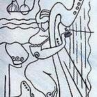 Harp and Its Player by Elisabeta Hermann
