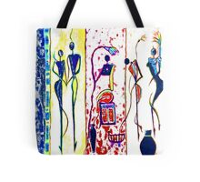 African people silhouette mix images Tote Bag