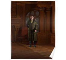 Regency Gentleman in his Study Poster