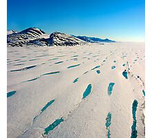 There no more - Ward Hunt Ice Shelf Photographic Print