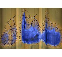 Blue Cracking Photographic Print