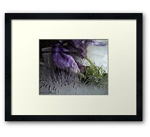Questioning reality - ice work Framed Print