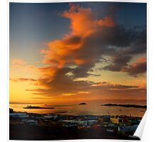 Sunset over Frobisher Bay - Iqaluit, Nunavut, Canada Poster
