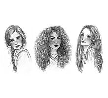 Ginny, Hermione & Luna Photographic Print