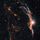 Witch's Broom Nebula & Veil Nebula by StocktrekImages