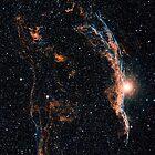 Witch's Broom Nebula & Veil Nebula by StocktrekImages