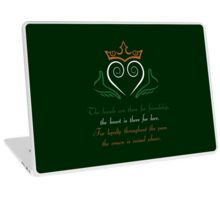 Claddagh Ring Laptop Skin