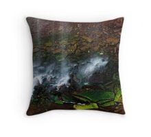 Waterfall Detail: Indian Falls Throw Pillow