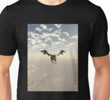 Green Dragon Flying over the Mountains Unisex T-Shirt