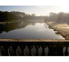 Frosty Lake at Blenheim Palace Photographic Print