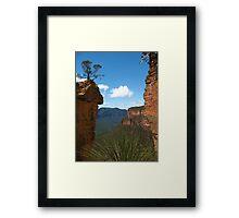 Between the Cliffs Framed Print