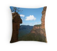 Between the Cliffs Throw Pillow