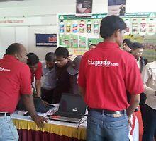 Busy bizporto team at Global Maharashtra Conference and Trade Fair by bizporto