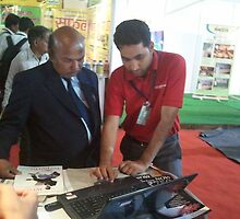 Laptops used by bizporto team in giving live demos at bizporto at Global Maharashtra Conference and Trade Fair by bizporto