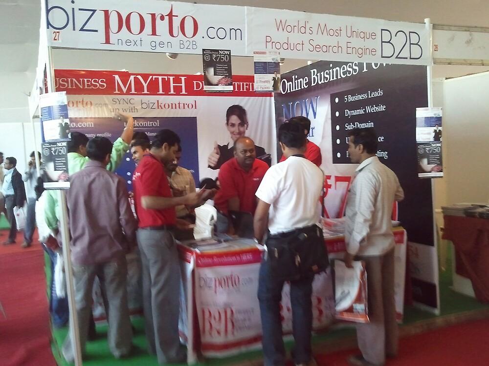 bizporto booth demystifying the myth at Global Maharashtra Conference and Trade Fair by bizporto