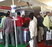 bizporto team busy attending sellers, suppliers, manufacturers at Global Maharashtra Conference and Trade Fair by bizporto