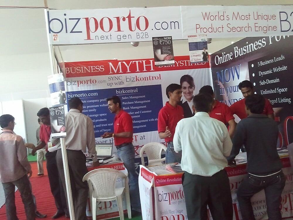 bizporto booth offering world's most unique product search engine by bizporto