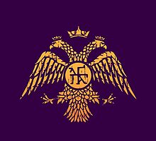 Byzantine Eagle Symbol Flag by quark