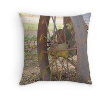 Wagon Wheel- Lanyon Homestead, Canberra. Throw Pillow