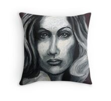 Woman in oil pastels Throw Pillow