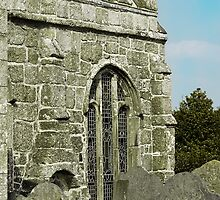 Gravestones and granite window by moor2sea
