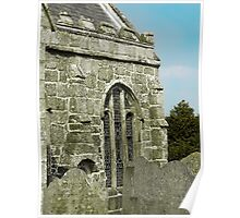 Gravestones and granite window Poster