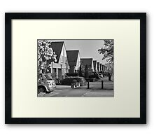 Urban: Sleepy morning with Sakura scent Framed Print